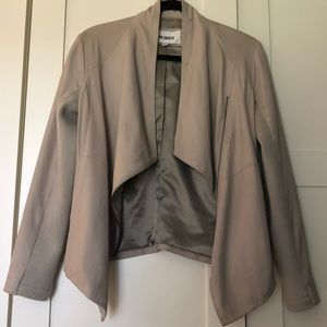 BB Dakota Drape Front Leather Jacket